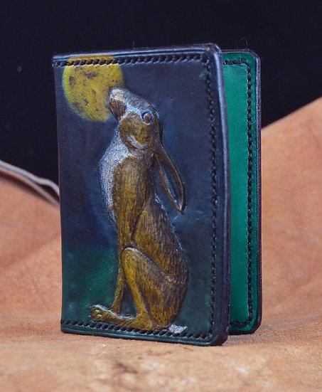 Hare Design Leather Card Holder