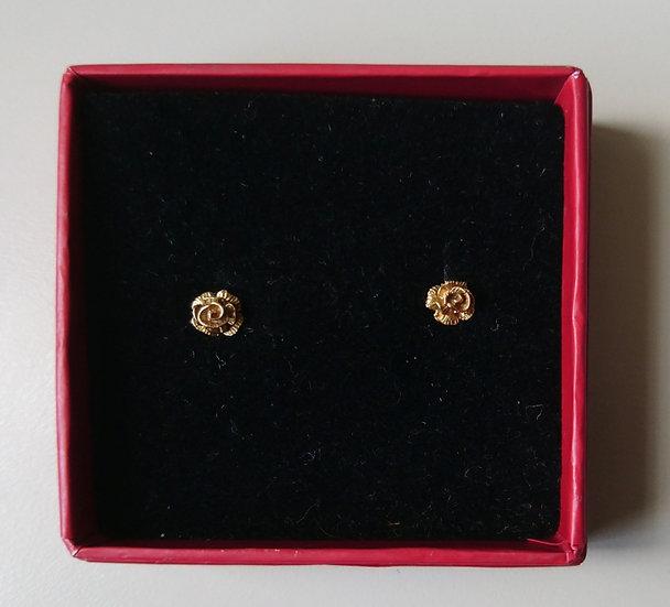 9ct Gold Rose Studs