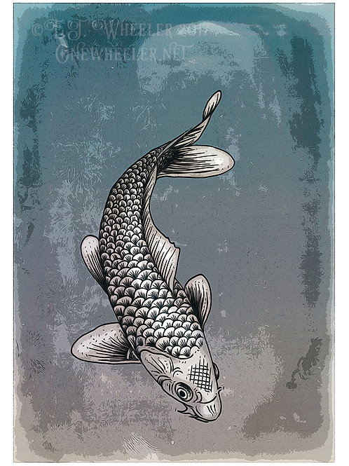 Koi Carp (Greeting Card)