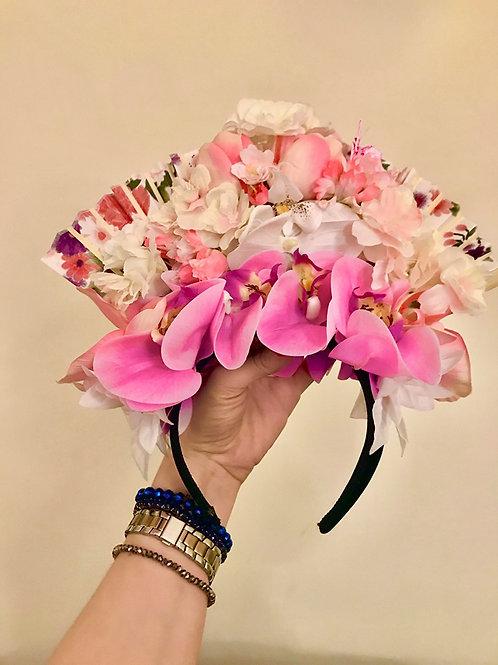Small Floral Fan Headdress by Sammm Agnew