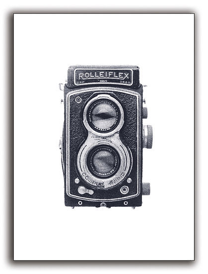 Rollei TLR Camera (Greeting Card)