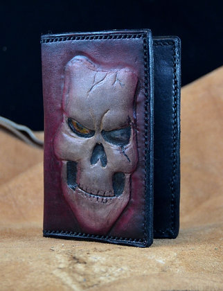 Skull Leather Card Holder