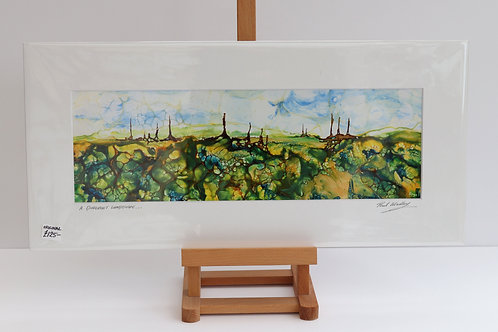 A Different Landscape (Encaustic Wax Painting)