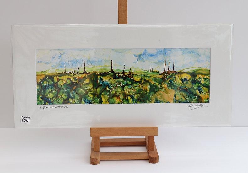 A Different Landscape (Encaustic Wax Painting)