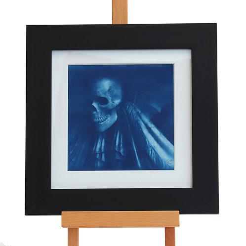 Skull Cyanotype (Framed Print)
