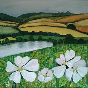 Buckinghamshire Landscape Oil by Lynne Jones