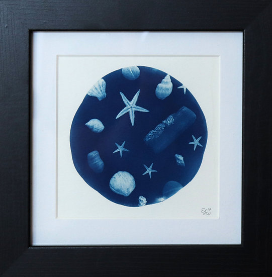 Deep Blue Cyanotype (Framed Print)