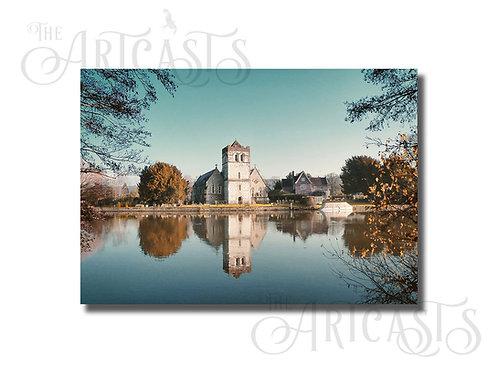 A4 Gloss Print of All Saints Church Bisham