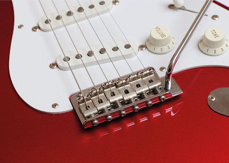 Red Guitar (Greeting Card)