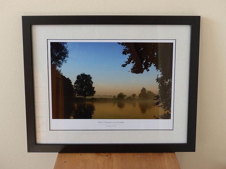 Misty Thames at Cliveden (Framed Print)