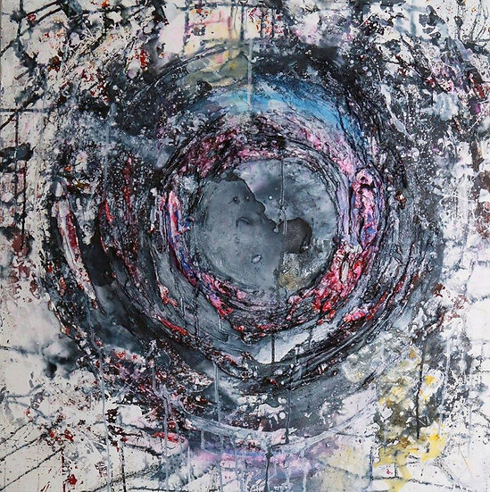 Void Abstract Mixed Media Painting by Sammm Agnew