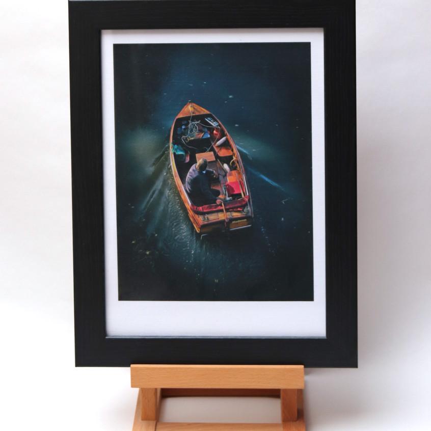boat man framed