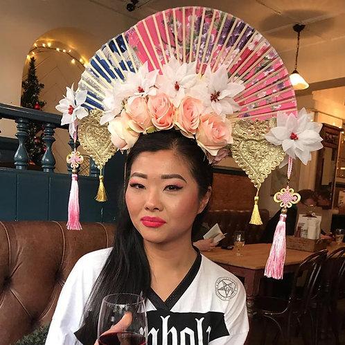 Large Floral Fan Headdress by Sammm Agnew
