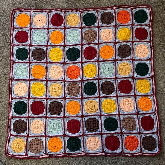 Autumn Circles Lap Blanket (Textiles)