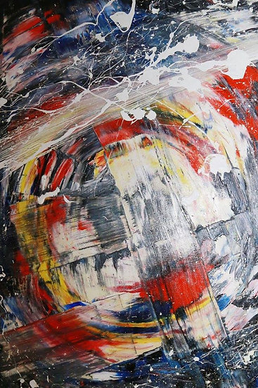Rotoscope Abstract Oil Painting by Sammm Agnew
