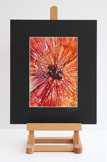 Orange Wowser (Encaustic Wax Painting)