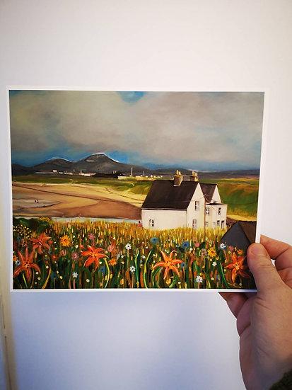 Beach House Anglesey  (Print) Lynne D Jones