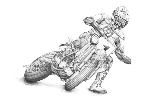 Supermoto Racer (Greeting Card)