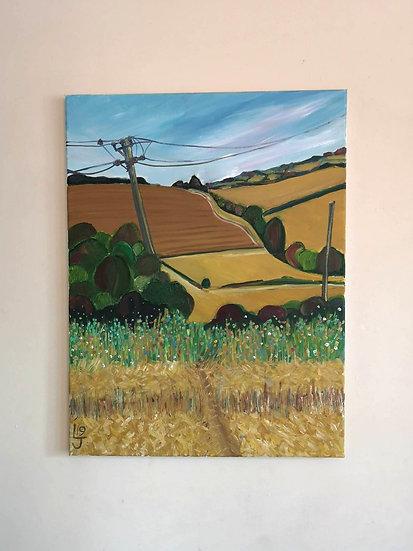 September Walk Original Oil Painting by Lynne Jones