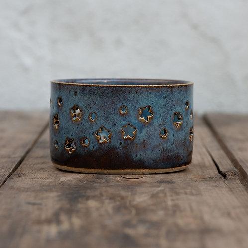 Ceramic Tea Light Holder Night Sky With Stars