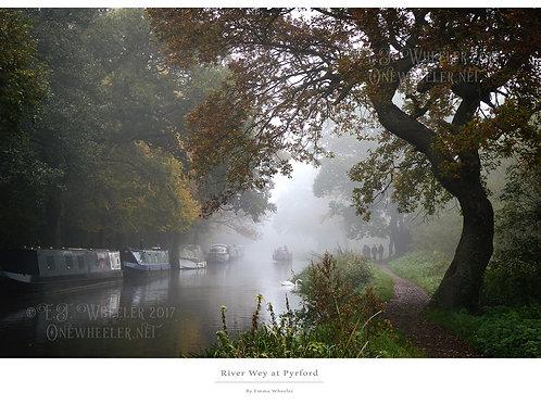River Wey Mounted Print