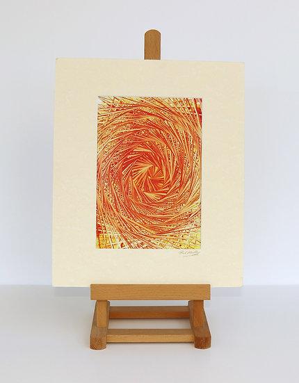 Turning Orange (Encaustic Wax Painting)