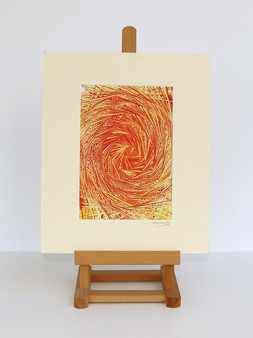 Turning Orange (Encaustic Wax Painting)