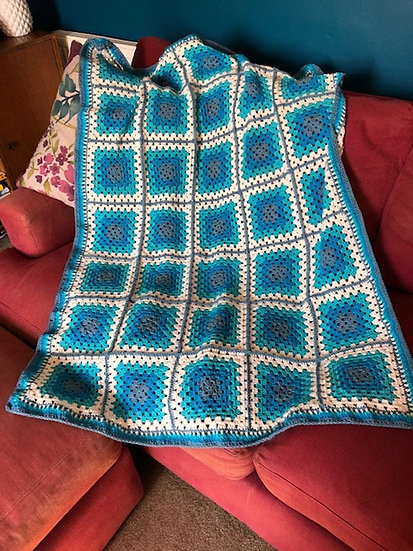 Blues Lap Throw / Blanket (Textiles)