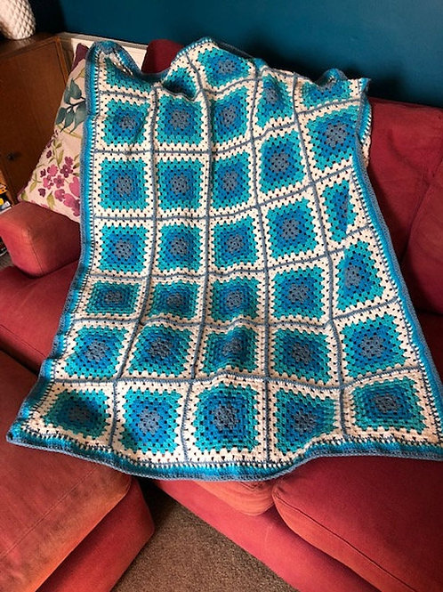 Blues Lap Throw / Blanket (Textiles)