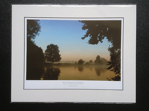 River Thames Mounted Print