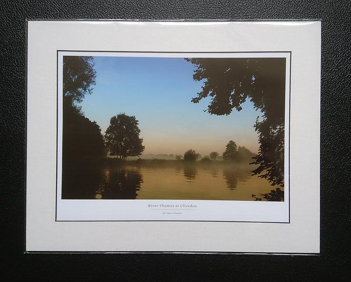 River Thames Mounted Print