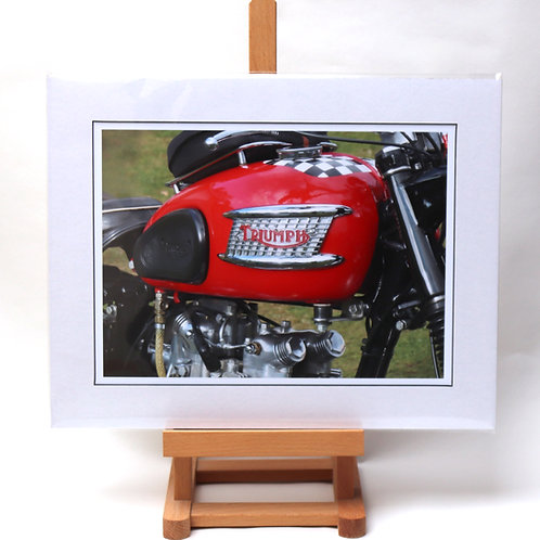 Triumph Motorcycle mounted print