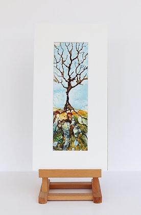L'arbre (Encaustic Wax Painting)