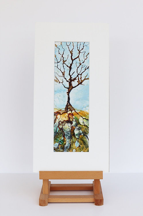 L'arbre (Encaustic Wax Painting)
