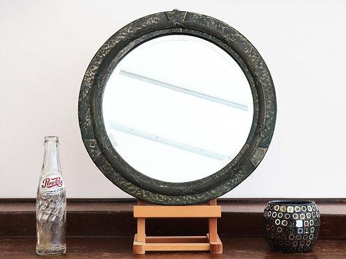 Antique Round Bevelled Mirror
