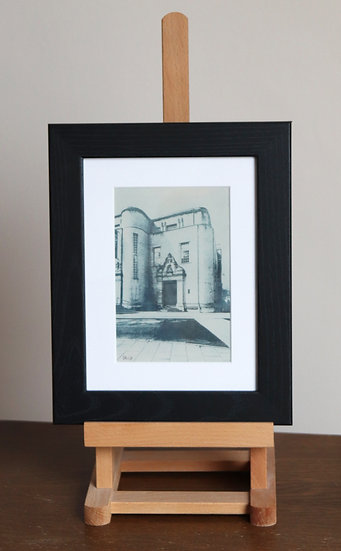 Weston Library Oxford (Framed Etching)