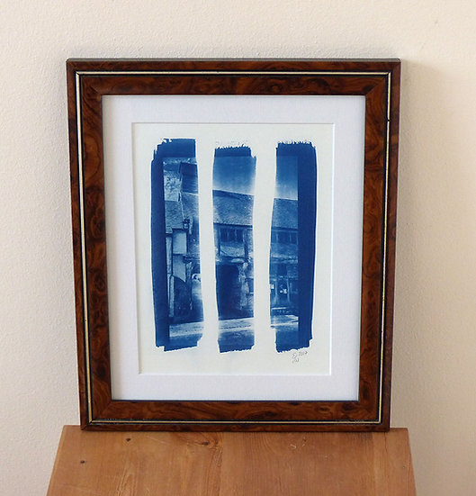 West Wycombe Cyanotype (Framed Print)