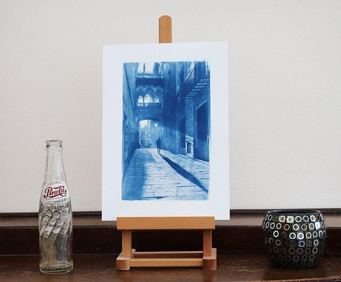 Barcelona Cyanotype (Original handmade print)