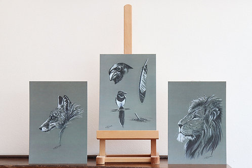 3 x Limited Edition Wildlife Prints (A5) by Emma Judson