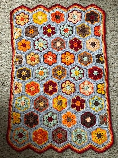 Bright Autumn Pram Blanket (Textiles)
