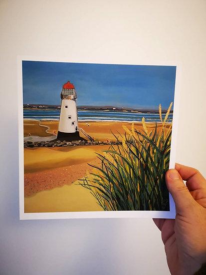 Talacre Lighthouse North Wales (Print) Lynne D Jones