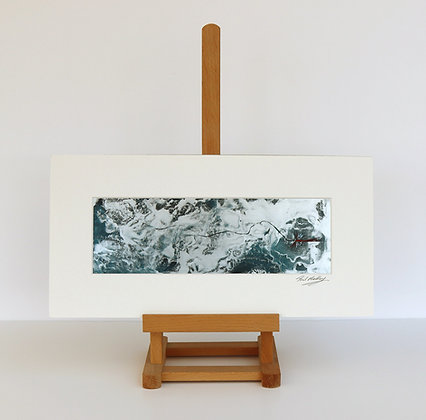 Fly Fishing (Encaustic Wax Painting)