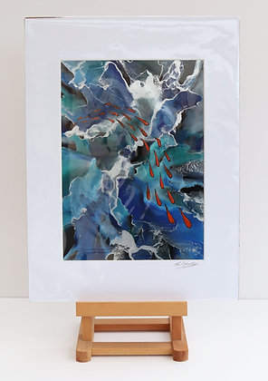Flight of the Fishes (Encaustic Wax Painting)