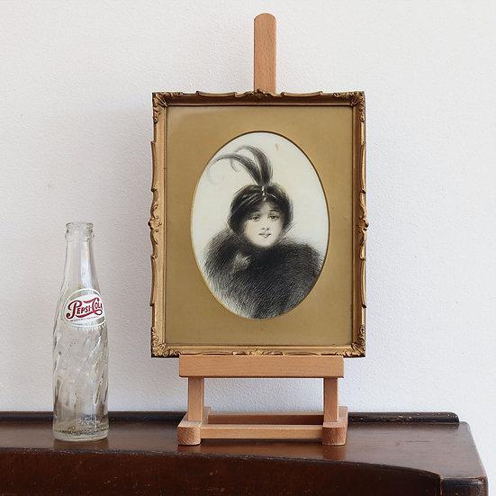 Early 20th Century Pen & Ink Portrait