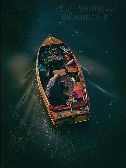Boat Man (Greeting Card)