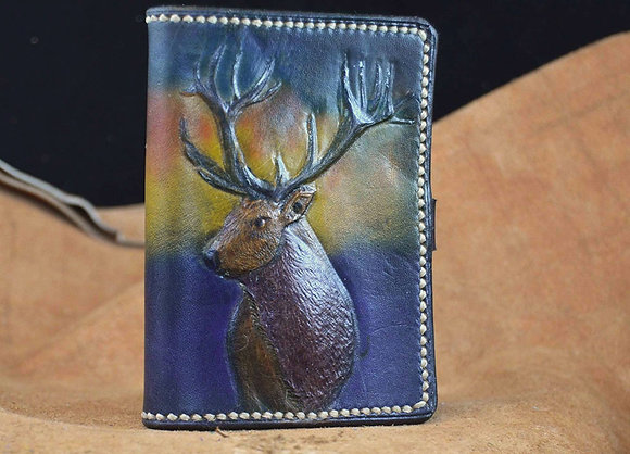 Deer Design Leather Card Holder