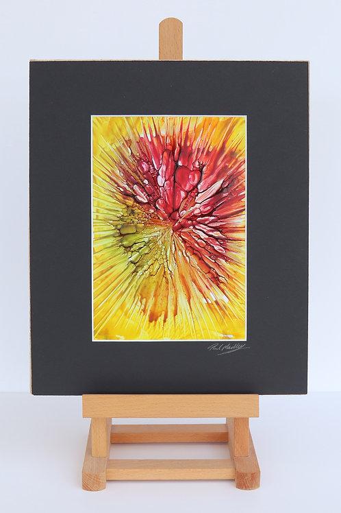 Freefall (Encaustic Wax Painting)