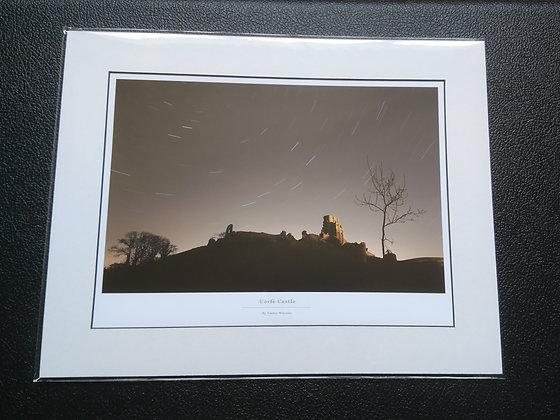 Corfe Castle Mounted Print