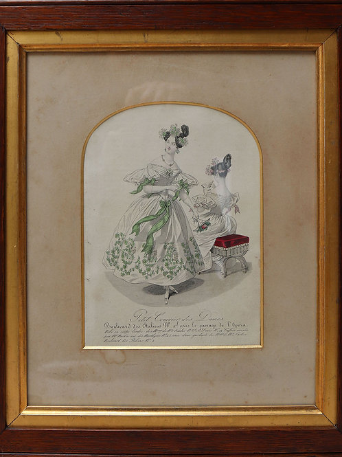 19th Century French Fashion Plate (Framed Print)
