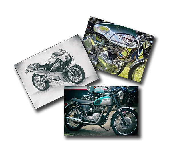 Bikes 3 pack (Greeting Cards)